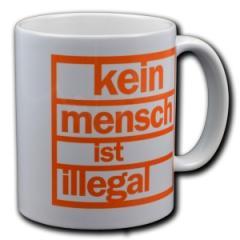 """Zur Tasse """"kein mensch ist illegal"""" für 10,00 € gehen."""