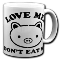"""Zur Tasse """"Love Me - Don't Eat Me"""" für 10,00 € gehen."""