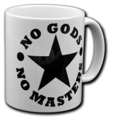 """Zur Tasse """"No Gods No Masters"""" für 10,00 € gehen."""