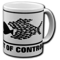 """Zur Tasse """"Out of Control"""" für 10,00 € gehen."""