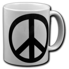 """Zur Tasse """"Peacezeichen"""" für 10,00 € gehen."""