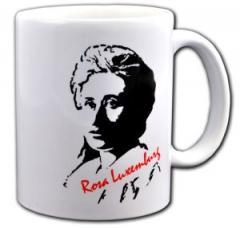 """Zur Tasse """"Rosa Luxemburg"""" für 10,00 € gehen."""