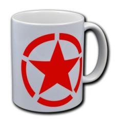 """Zur Tasse """"Roter Stern im Kreis (red star)"""" für 10,00 € gehen."""