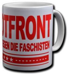 """Zur Tasse """"Rotfront - Gemeinsam gegen die Faschisten"""" für 9,75 € gehen."""
