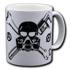 """Zur Tasse """"Skull - Gasmask"""" für 10,00 € gehen."""