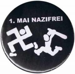 """Zum 25mm Magnet-Button """"1. Mai Nazifrei"""" für 1,95 € gehen."""