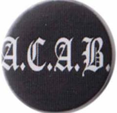 """Zum 25mm Magnet-Button """"ACAB Fraktur"""" für 2,00 € gehen."""
