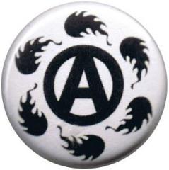 """Zum 25mm Magnet-Button """"Anarchie Feuer"""" für 2,00 € gehen."""
