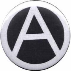 """Zum 25mm Magnet-Button """"Anarchie (schwarz)"""" für 2,00 € gehen."""