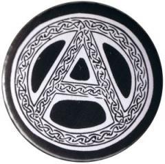 """Zum 25mm Magnet-Button """"Anarchie - Tribal (schwarz)"""" für 1,95 € gehen."""