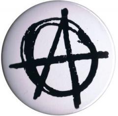 """Zum 25mm Magnet-Button """"Anarchie (weiß)"""" für 2,00 € gehen."""