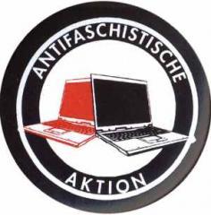 """Zum 25mm Magnet-Button """"Antifaschistische Aktion (Notebooks)"""" für 2,14 € gehen."""