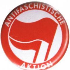 """Zum 25mm Magnet-Button """"Antifaschistische Aktion (rot/rot)"""" für 2,00 € gehen."""
