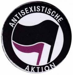 """Zum 25mm Magnet-Button """"Antisexistische Aktion (schwarz/lila)"""" für 2,00 € gehen."""
