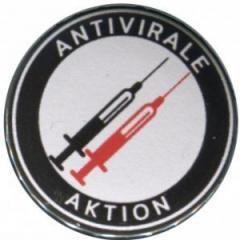 """Zum 25mm Magnet-Button """"Antivirale Aktion - Spritzen"""" für 2,00 € gehen."""