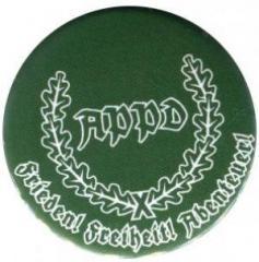 """Zum 25mm Magnet-Button """"APPD Ährenkranz Frieden! Freiheit! Abenteuer! (grün)"""" für 2,00 € gehen."""