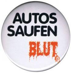 """Zum 25mm Magnet-Button """"Autos saufen Blut"""" für 2,00 € gehen."""