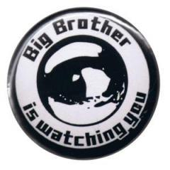"""Zum 25mm Magnet-Button """"Big Brother is watching you"""" für 2,00 € gehen."""