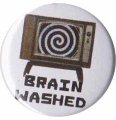 """Zum 25mm Magnet-Button """"Brain washed"""" für 2,00 € gehen."""