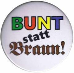 """Zum 25mm Magnet-Button """"Bunt statt braun"""" für 2,00 € gehen."""