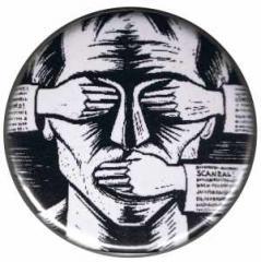 """Zum 25mm Magnet-Button """"consume! sensationalism! scandal!"""" für 2,00 € gehen."""