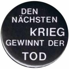 """Zum 25mm Magnet-Button """"Den nächsten Krieg gewinnt der Tod"""" für 2,00 € gehen."""