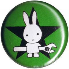 """Zum 25mm Magnet-Button """"Direct Action Hase - Stern (grün)"""" für 2,00 € gehen."""