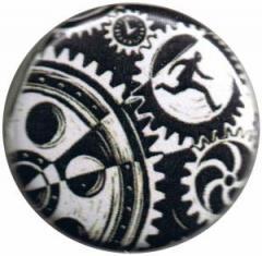 """Zum 25mm Magnet-Button """"Eric Drooker: Zahnräder"""" für 2,00 € gehen."""