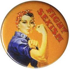 """Zum 25mm Magnet-Button """"Fight sexism"""" für 1,95 € gehen."""