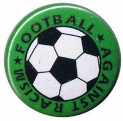 """Zum 25mm Magnet-Button """"Football against racism (grün)"""" für 2,00 € gehen."""