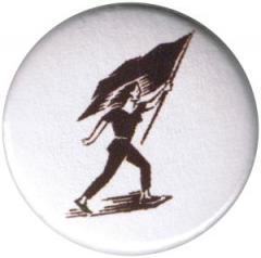 """Zum 25mm Magnet-Button """"Frau mit Fahne"""" für 1,95 € gehen."""