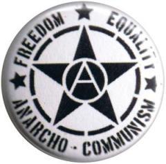 """Zum 25mm Magnet-Button """"Freedom Equality Anarcho-Communism"""" für 2,00 € gehen."""