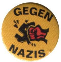 """Zum 25mm Magnet-Button """"Gegen Nazis - gelb"""" für 2,00 € gehen."""