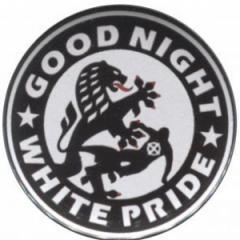 """Zum 25mm Magnet-Button """"Good night white pride (Dresden)"""" für 2,14 € gehen."""