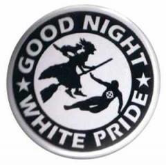 """Zum 25mm Magnet-Button """"Good night white pride - Hexe"""" für 2,00 € gehen."""