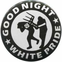 """Zum 25mm Magnet-Button """"Good night white pride - Stuhl"""" für 2,00 € gehen."""
