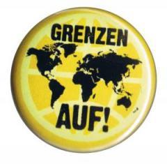 """Zum 25mm Magnet-Button """"Grenzen auf!"""" für 2,00 € gehen."""