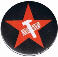 """Zum 25mm Magnet-Button """"Hammer und Tastatur Stern"""" für 1,95 € gehen."""