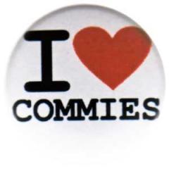 """Zum 25mm Magnet-Button """"I love commies"""" für 2,00 € gehen."""