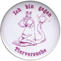 """Zum 25mm Magnet-Button """"Ich bin gegen Tierversuche"""" für 1,95 € gehen."""