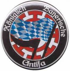 """Zum 25mm Magnet-Button """"Königlich Bayerische Antifa Mühldorf"""" für 2,20 € gehen."""