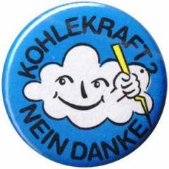 """Zum 25mm Magnet-Button """"Kohlekraft? Nein Danke"""" für 2,00 € gehen."""