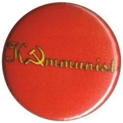 """Zum 25mm Magnet-Button """"Kommunist!"""" für 2,00 € gehen."""