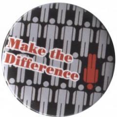 """Zum 25mm Magnet-Button """"Make the difference"""" für 1,95 € gehen."""