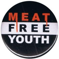 """Zum 25mm Magnet-Button """"Meat Free Youth"""" für 2,00 € gehen."""