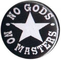 """Zum 25mm Magnet-Button """"No Gods No Masters"""" für 1,95 € gehen."""