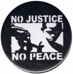 """Zum 25mm Magnet-Button """"No Justice - No Peace"""" für 2,00 € gehen."""