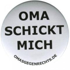 """Zum 25mm Magnet-Button """"Oma schickt mich"""" für 1,95 € gehen."""