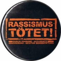 """Zum 25mm Magnet-Button """"Rassismus tötet!"""" für 2,00 € gehen."""