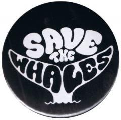 """Zum 25mm Magnet-Button """"Save the Whales"""" für 2,00 € gehen."""
